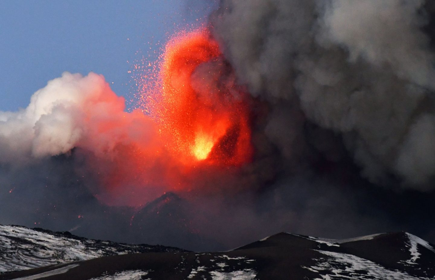 Spectacular eruption from Italy's Mount Etna