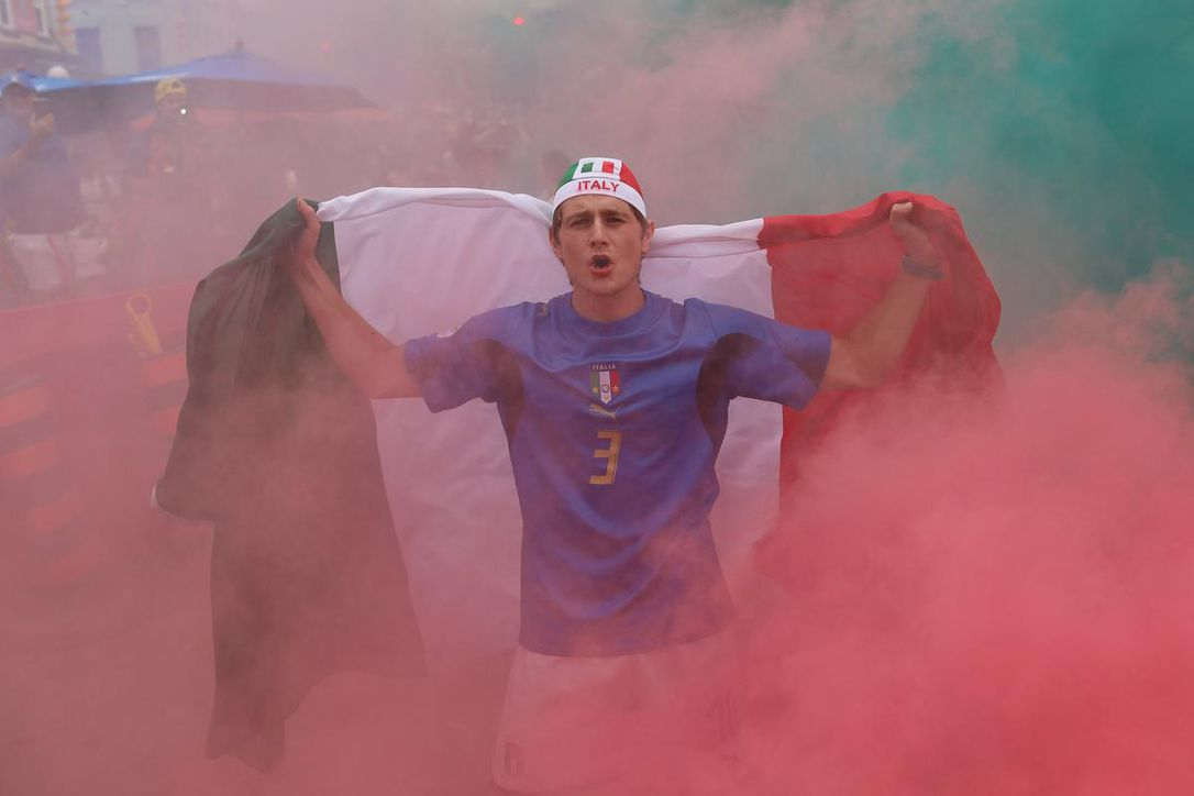 Ecstatic soccer fans fill the streets of Little Italy after Euro 2020